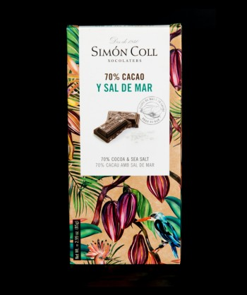 CHOCOLATE 70% SAL DE MAR 85 GR.