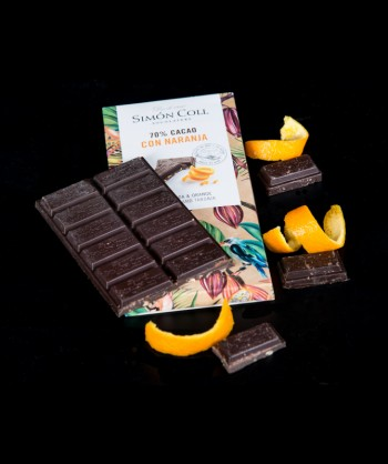 CHOCOLATE 70% NARANJA 85 GR.